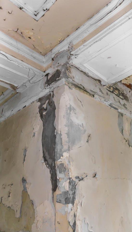 תיקון רטיבות בתקרה מהשכן